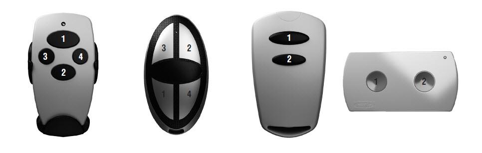 Номера кнопок на пультах Doorhan