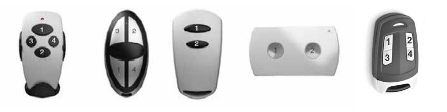 Нумерация кнопок на пультах Doorhan