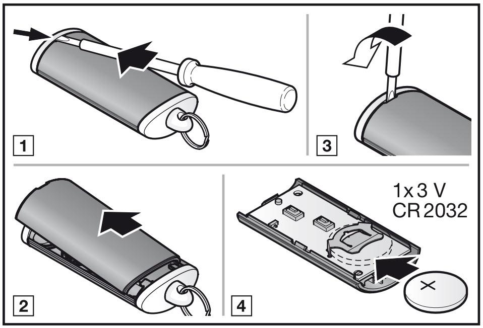 Замена батарейки в пульте Hormann HSE2-868-BS