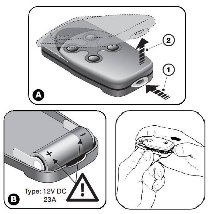 Замена батареи NICE FLOR